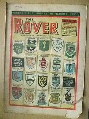 Comic-THE ROVER, No.1516, 17 July 1954; YOUR SCHOOL BADGE MAY BE HERE!