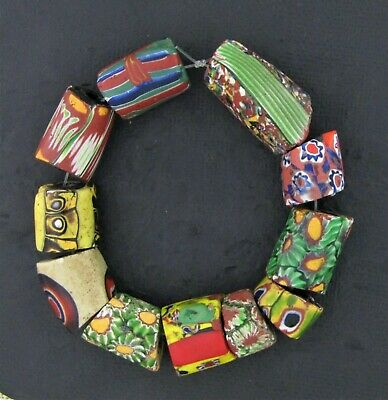African trade beads Millefiori Venetian mosaic glass beads   #M21