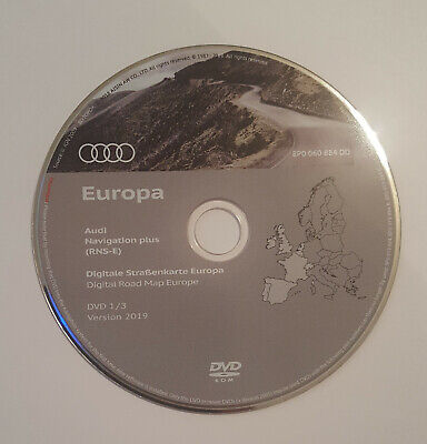 2019 Audi Navigation Plus RNS-E Sat Nav Map DVD Disc Update