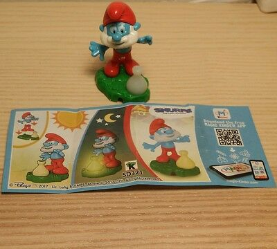 Sd321 Puffi-Smurfs Lost Village Grande Puffo + Cartina 2016 Kinder