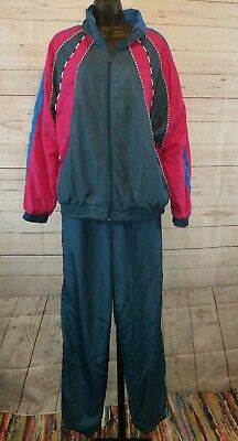 Vtg BOCCO Windbreaker TRACKSUIT Set Jacket Pants 80s 90s Retro Hip Hop XL 3092