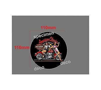 STICKERS  PINUP AMERICAN CLASSIC DINER AUTOCOLLANT  110mm AUTO MOTO BIKER US