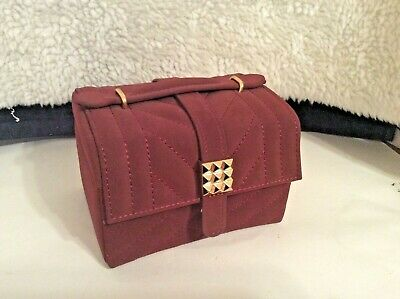 Tuscan Designs Jewelry Box.Tuscan Designs Portable Jewelry Box Case Red Faux Suede