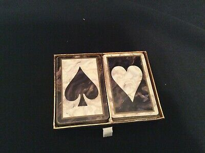 CONGRESS Playing Cards Double Deck Black White Marble Design