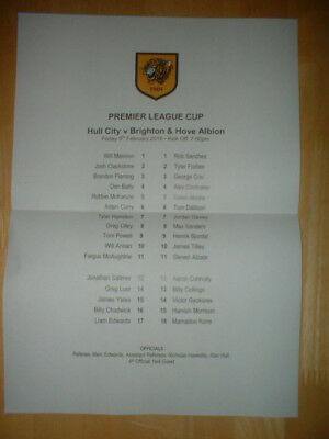 2017/18 Hull City V Brighton & Hove Albion - Reserves / Under 23 Premier Cup
