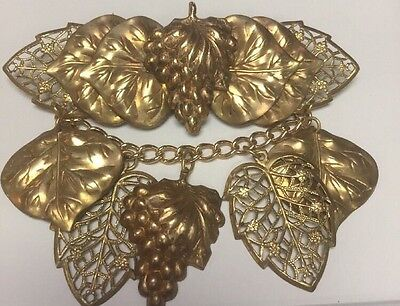 Brass Brooch Nimble Fingers Stunning Estate Jewelry High Quality Vintage Piece