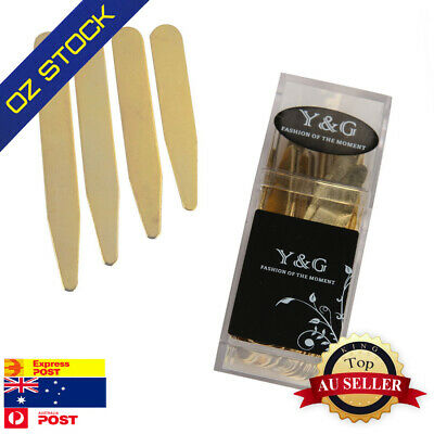 Gold Metal Collar Stays For 24 Pic (2.5,2.25, 3,2.75) Inches By Y&G CS3016