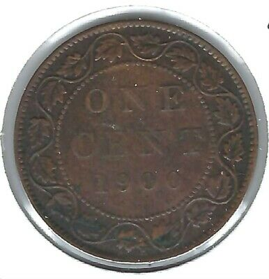 1910 Canadian Circulated XF One Large Cent Edward VII Coin!