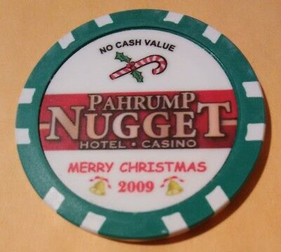 2009 Nugget Hotel Casino Pahrump, Nevada Hard To Find Merry Christmas Chip 2009!
