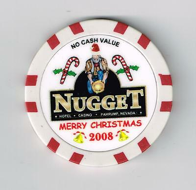 2008 Nugget Casino Pahrump, Nv. Christmas Ncv Chip Only A Few Known Not Canceled
