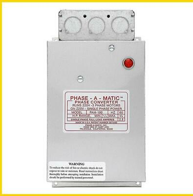 Pam-100Hd -  1/3 - 3/4 Hp - 220 Vac - Phase-A-Matic Phase Converter