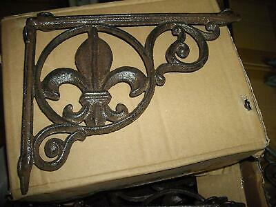 "9"" Fleur De Lis Shelf Bracket Cast Iron Shelf Bracket"