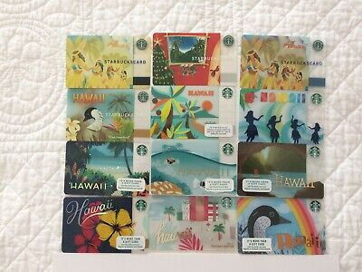 Starbucks Hawaii Gift Card - Complete Set of 12 - No Balance