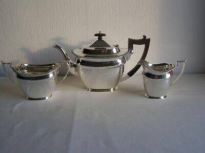 Antique Georgian style Martin, Hall & Co 3 piece silver plated tea set c.1880