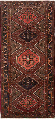 """Hand-knotted Persian Carpet 4'2"""" x 7'10"""" Nahavand Traditional Wool Rug"""