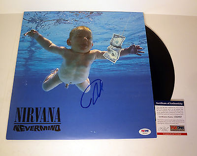 Dave Grohl Nirvana Signed Autograph Nevermind Vinyl Record Album Psa/Dna Coa