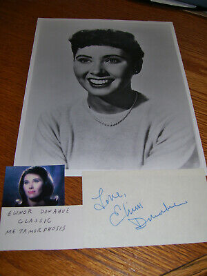 ELINOR DONAHUE / 8 X 10 B&W with AUTOGRAPHED 3x5 Card Star Trek Andy Griffith