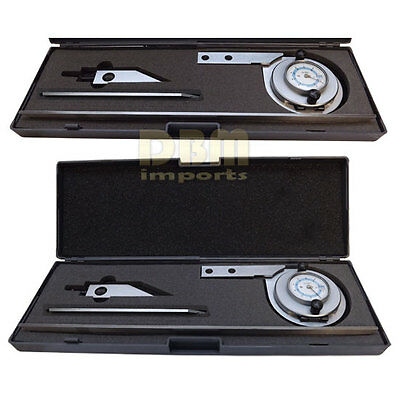 """Stainless Steel Universal Dial Bevel Protractor Indicator 6"""" 12"""" Blade 90 Degree"""