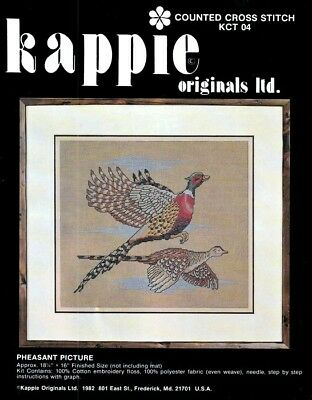 Cross Stitch Kit Pheasant Picture by Kappie Originals Flying Pheasant Birds