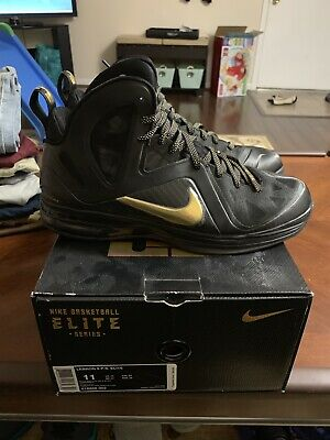 new product 4ff5f 150f1 Nike LeBron 9 IX Elite P.S. Black Gold Size 11. 516958-002