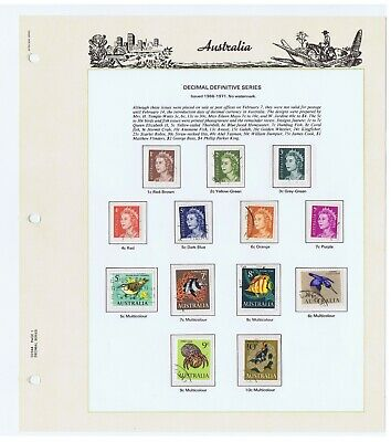 Australian Stamps Complete Used Collection from 1966 -1981 in Seven Seas Album