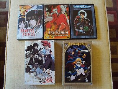 Anime Manga DVD LOT Chrono Crusade Complete Peace Maker Vampire Princess Dark