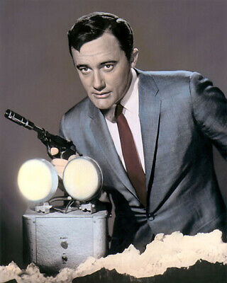 """ROBERT VAUGHN THE MAN FROM UNCLE HOLLYWOOD ACTOR 8x10"""" HAND COLOR TINTED PHOTO"""