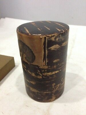 Japanese Cherry bark Crafts TEA CADDY Chaire Container Tea Ceremony