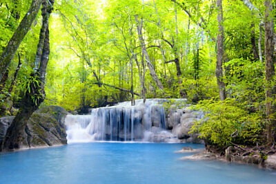 Waterfall Landscape HD print oil painting Modern Home Decor Art Wall on canvas