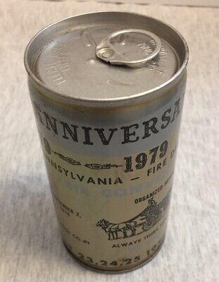 Vintage 100th Anniversary Waynseboro PA Fire Department 1979 EMPTY Beer Can