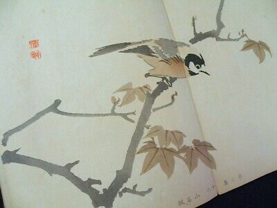 GYOKUSYO Flowers and birds People Japanese Full-color Woodblock print Book #3