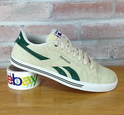 797a956a7e12b Reebok Royal Flag Shoes Men s Size 10.5 M Sneakers Cream Beige Green VTG  Retro