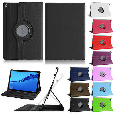 360 Rotating Case For Huawei MediaPad C5 10 M5 Lite 10.1 Tablet PU Leather Cover