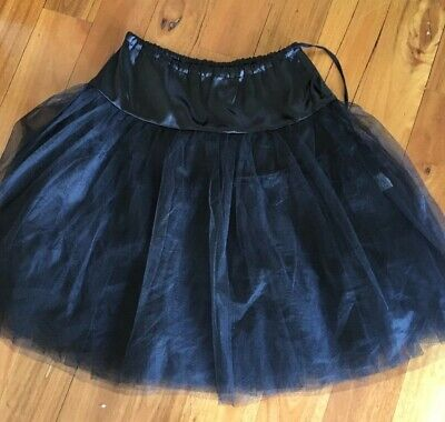 Chic Str Black rock n roll / rockabilly petticoat Size 8 to 12