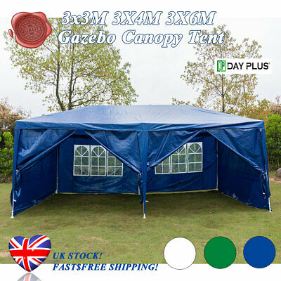 Day Plus@ 3Mx3M 4M 6M PE Gazebo 120g Waterproof Garden Marquee Canopy Party Tent