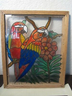 Stained Glass Macaws/Parrots
