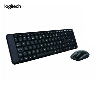 Logitech MK220 Wireless 2.4GHz Combo Keyboard and Mouse Space Saving NEW