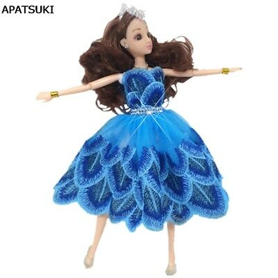 """Cute Dancing Costume Peacock Feather Dress For 11.5"""" Doll 1/6 Fashion Clothes"""