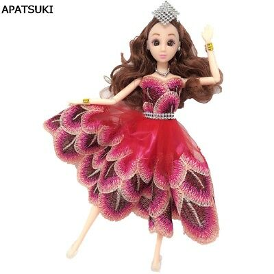 """Red Peacock Feather Dancing Costume Dress For 11.5"""" Doll 1/6 Fashion Clothes Toy"""