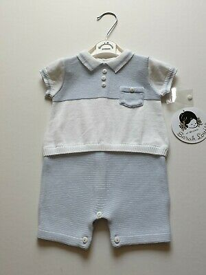 BNWT Sarah Louise Traditional Boys Sailor Suit Style Romper