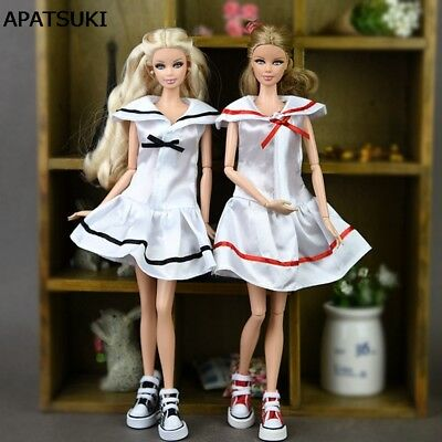 Doll Clothes Cosplay Costume Sailor Dress Student Clothes For 1/6 Doll Dress Toy
