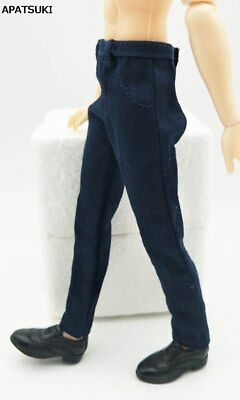 "1:6 Doll Clothes Dark Blue Handmade Pants For Ken Doll Trousers For 11.5"" Ken"