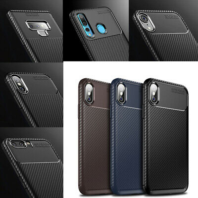 Rubber TPU Hybrid Fiber Shockproof Case Cover For iPhone XS Max XR X 8 7 6S