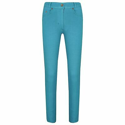 Kids Girls Aqua Skinny Jeans Stretchy Denim Jeggings Fit Pants Trousers 5-13 Yr