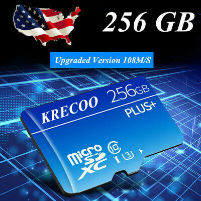 64GB 128GB 256GB Micro SD HC Class 10 TF Flash SDHC Memory Card with Adapter