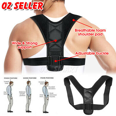 Posture Corrector Adjustable Men Women Shoulder Brace Back Support Strap Belt