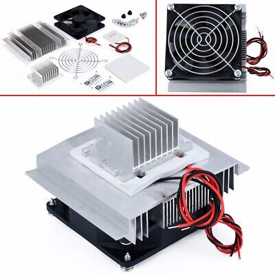 12V Thermoelectric Peltier Refrigeration Cooling Cooler Fan System Heatsink US