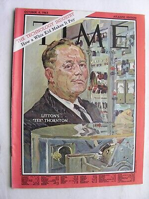 TIME MAGAZINE October 4 1963 Tex Thornton Cathy Berberian Carillon Lord Denning