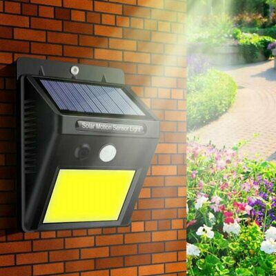 48 LED Solar Powered PIR Motion Sensor Wall Security Light Lamp Garden Outdoor