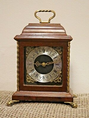 Dutch Warmink Table clock,Mini size, Walnut body (1965)